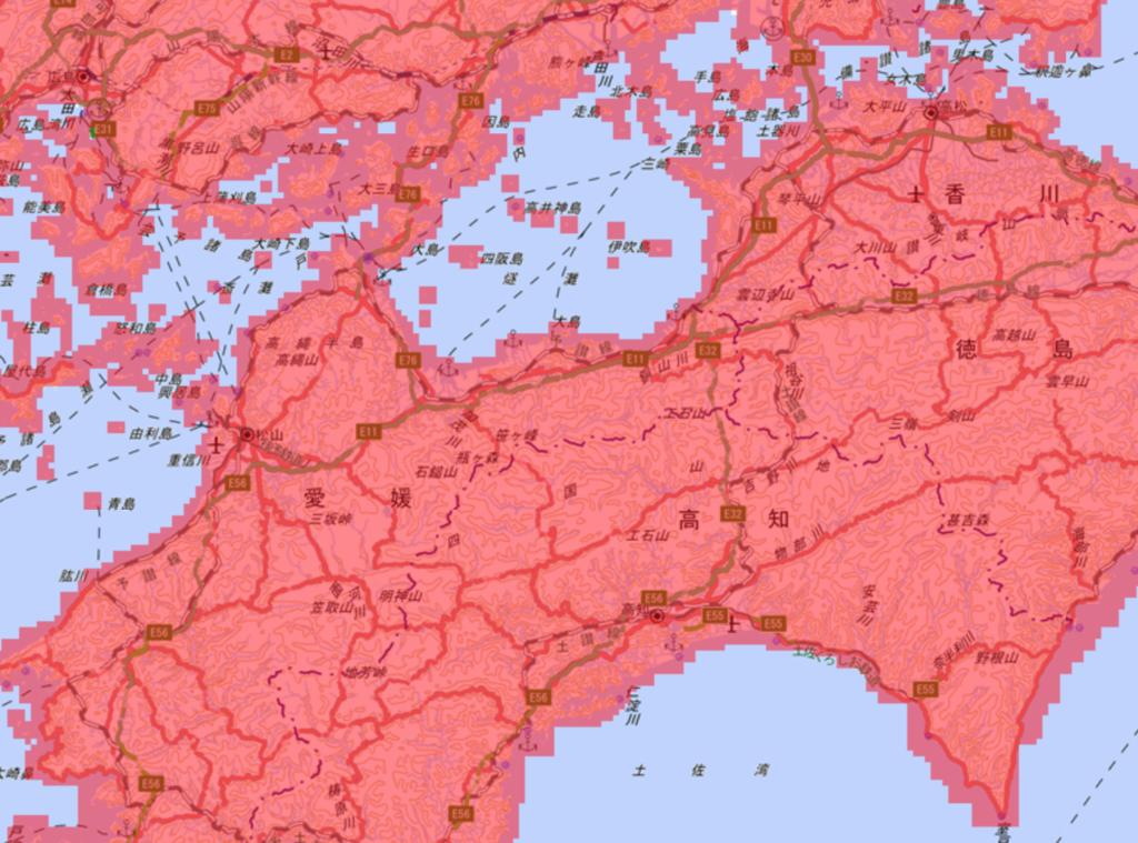 地図の拡大縮小