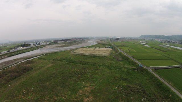ドローンから撮影した風景