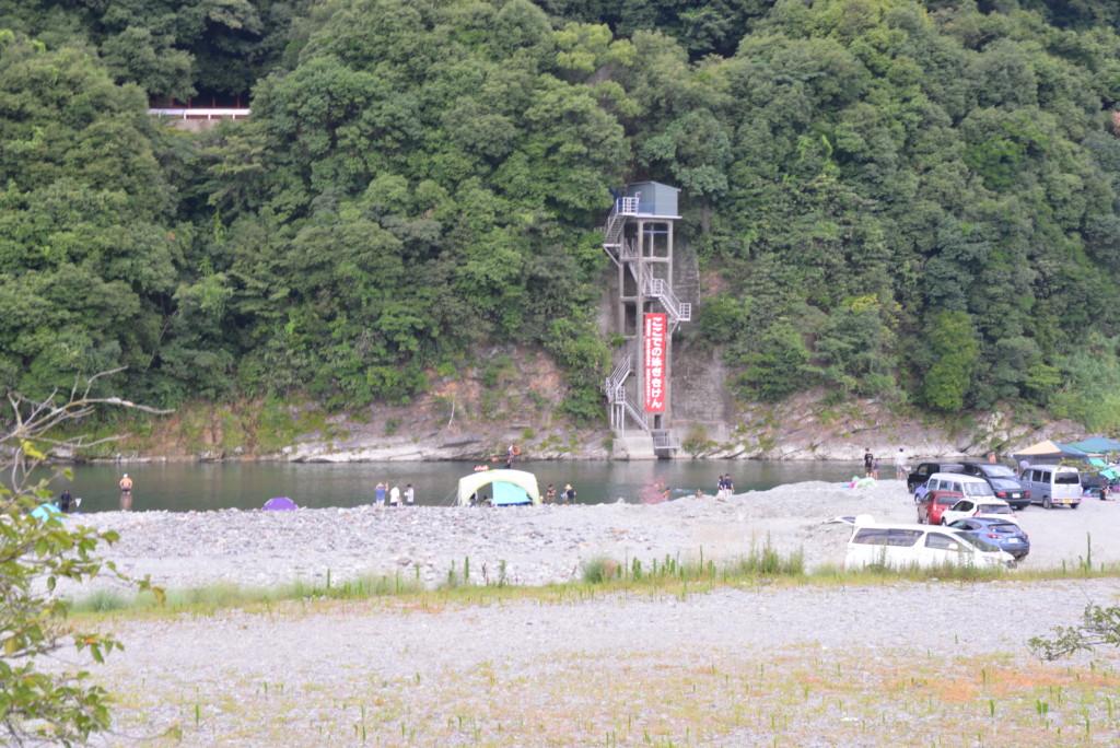 加茂川 水遊び