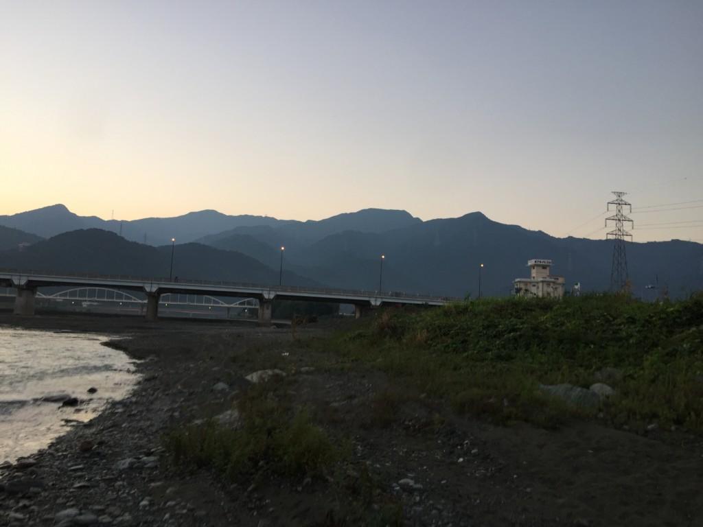 西条まつりの駐車場予定地 加茂川河川敷