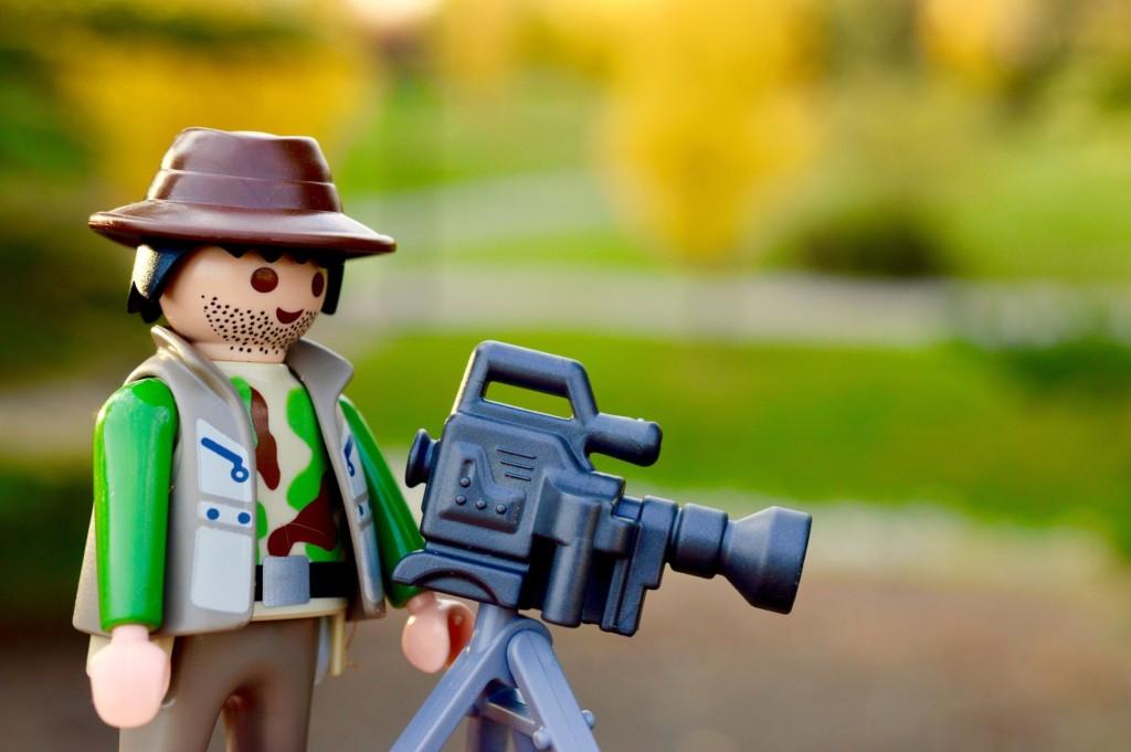 動画撮影するレゴブロック