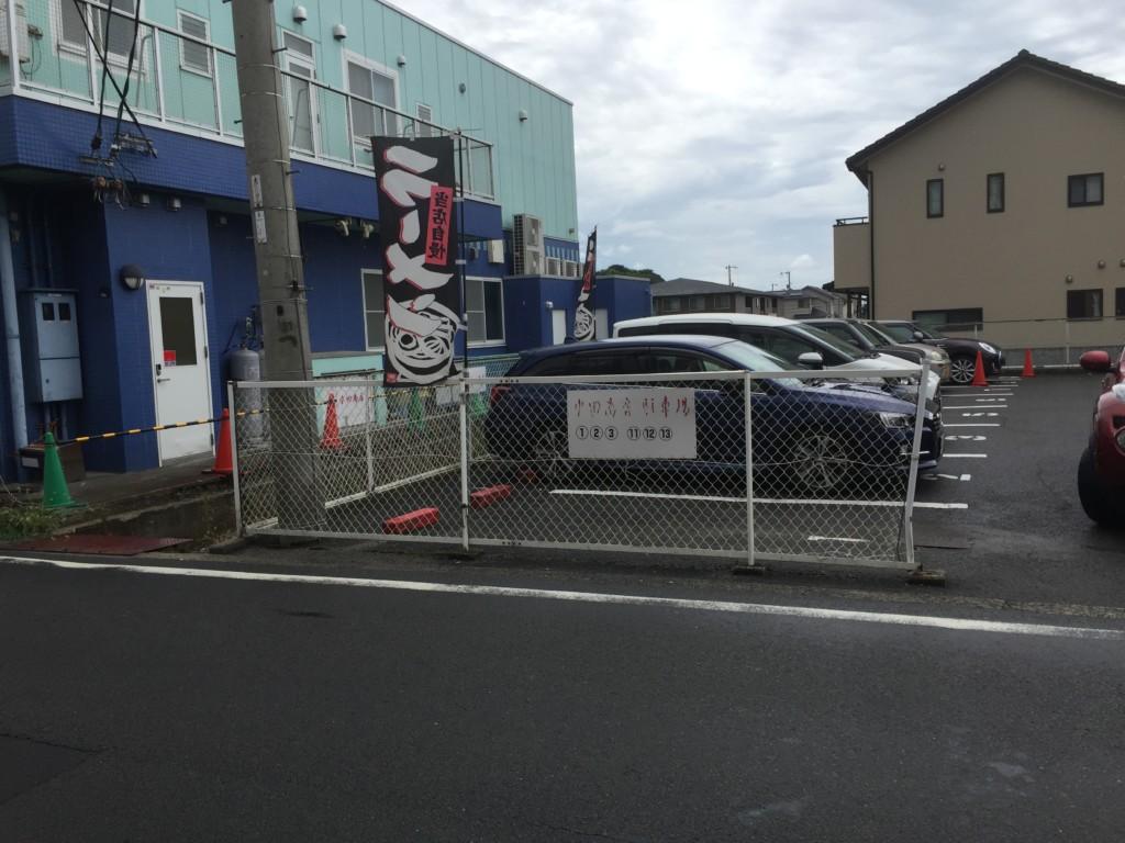 水田商店の駐車場