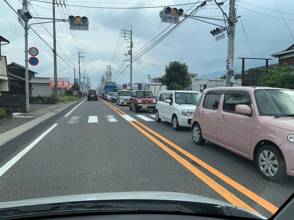 新居浜太鼓祭りの影響で大渋滞