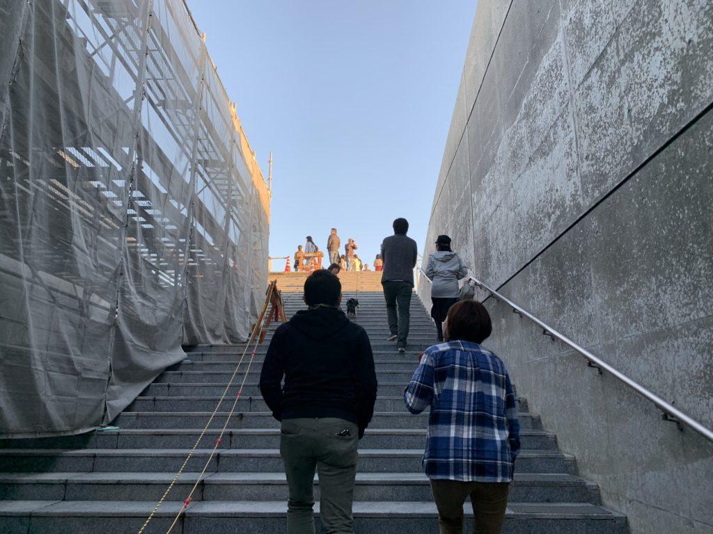 亀老山展望台の階段
