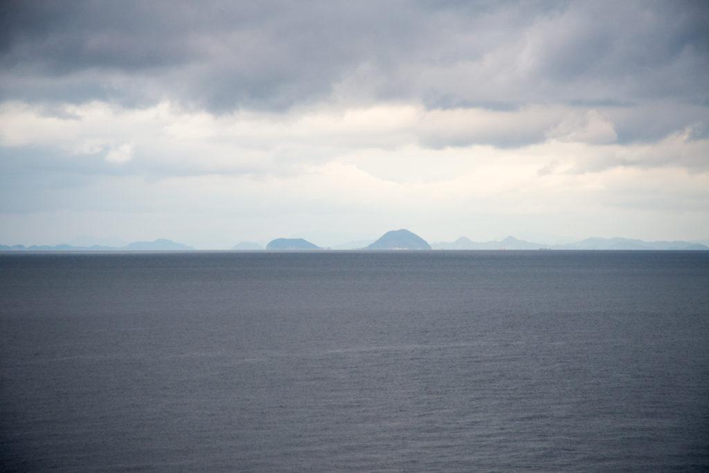JR下灘駅から見たDASH島