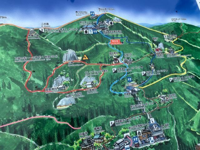 剣山 道案内地図