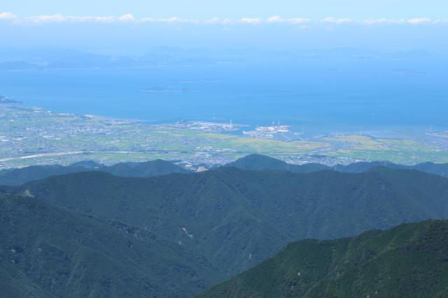 石鎚山山頂から見た風景