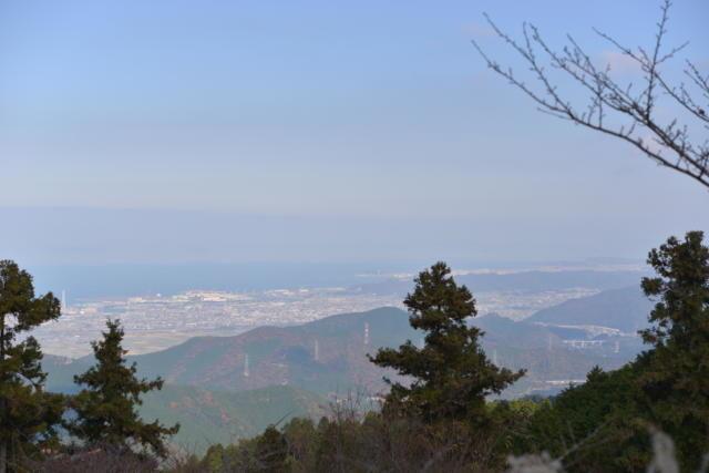 横峰寺駐車場から見る西条市内