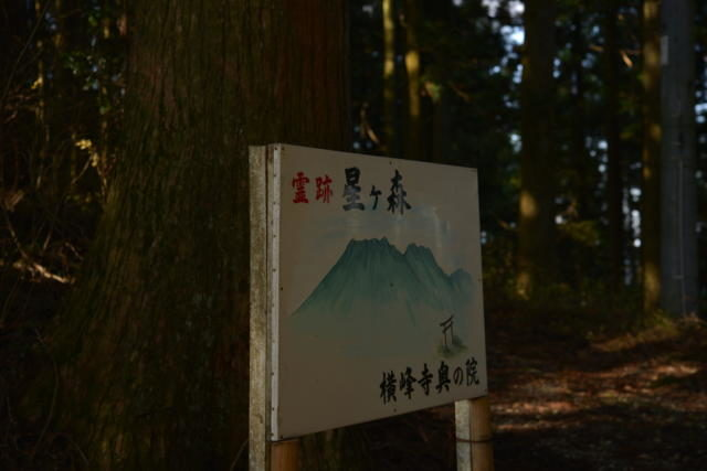 星が森の看板